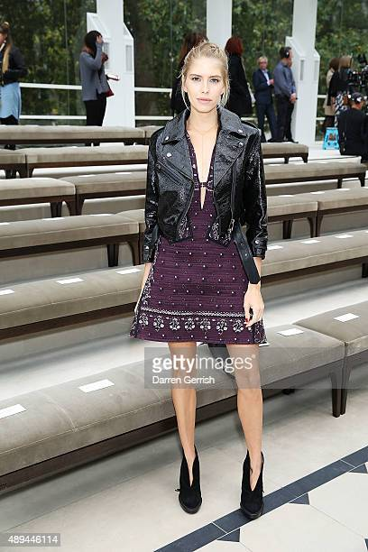 Elena Perminova attends the Burberry show during London Fashion Week Spring/Summer 2016 on September 21 2015 in London England