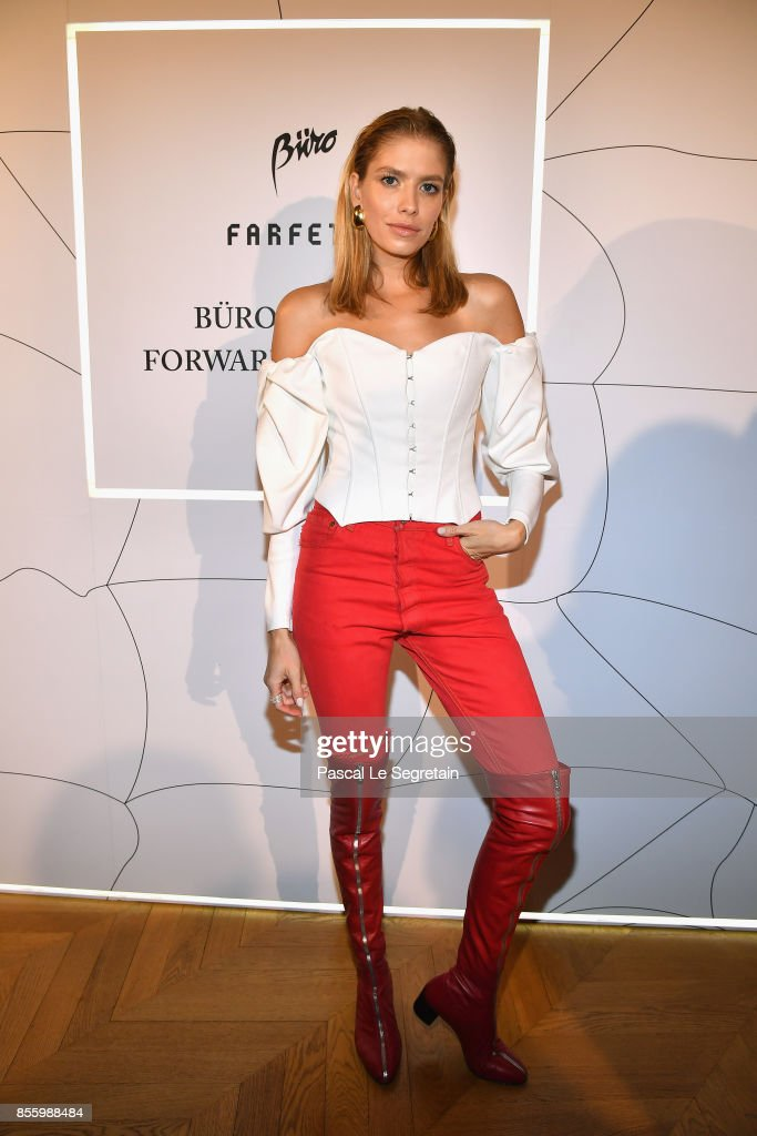 Elena Perminova attends the Buro 24/7 X Farfetch Fashion Forward Initiative as part of the Paris Fashion Week Womenswear Spring/Summer 2018 at Hotel Crillon on September 30, 2017 in Paris, France.