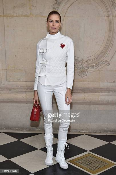 Elena Perminova attends the Christian Dior Haute Couture Spring Summer 2017 show as part of Paris Fashion Week on January 23 2017 in Paris France