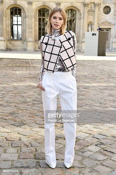 Elena Perminova attends the Christian Dior show as part of the Paris Fashion Week Womenswear Fall/Winter 2015/2016 on March 6 2015 in Paris France