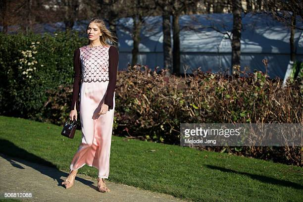 Elena Perminova attends the Dior Couture show at Musee Rodin on January 25 2016 in Paris France
