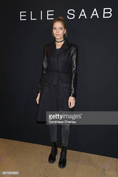 Elena Perminova attends the Elie Saab Haute Couture Spring Summer 2016 show as part of Paris Fashion Week on January 27 2016 in Paris France