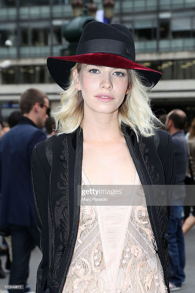 <a gi-track='captionPersonalityLinkClicked' href=/galleries/search?phrase=Elena+Perminova&family=editorial&specificpeople=6479553 ng-click='$event.stopPropagation()'>Elena Perminova</a> attends the Elie Saab show as part of Paris Fashion Week Haute-Couture Fall/Winter 2013-2014 at Palais Brongniart on July 3, 2013 in Paris, France.