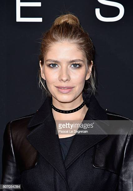 Elena Perminova attends the Elie Saab Spring Summer 2016 show as part of Paris Fashion Week on January 27 2016 in Paris France
