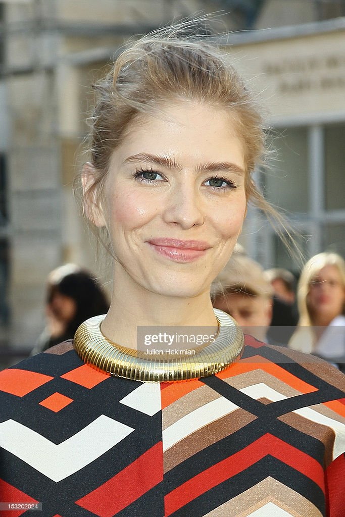 Elena Perminova attends the Giambattista Valli Spring / Summer 2013 show as part of Paris Fashion Week on October 1, 2012 in Paris, France.