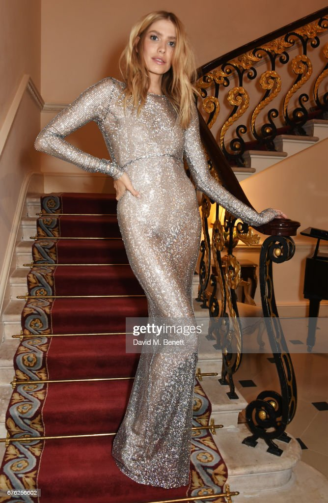 Elena Perminova attends the Harper's Bazaar 150th Anniversary Party at William Kent House at The Ritz on May 2, 2017 in London, England.