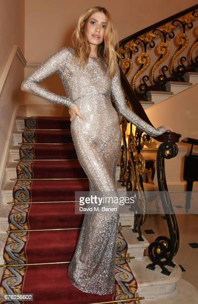 Elena Perminova attends the Harper's Bazaar 150th Anniversary Party at William Kent House at The Ritz on May 2 2017 in London England