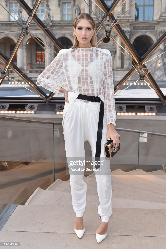 Elena Perminova attends the Louis Vuitton show as part of the Paris Fashion Week Womenswear Fall/Winter 2017/2018 on March 7, 2017 in Paris, France.