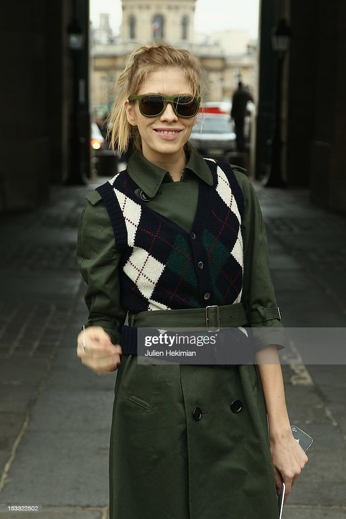 Elena Perminova attends the Louis Vuitton Spring/Summer 2013 show as part of Paris Fashion Week on October 3 2012 in Paris France