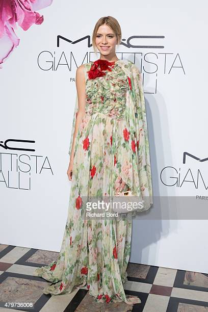 Elena Perminova attends the MAC Cosmetics Giambattista Valli Floral Obsession Ball at Opera Garnier on July 6 2015 in Paris France