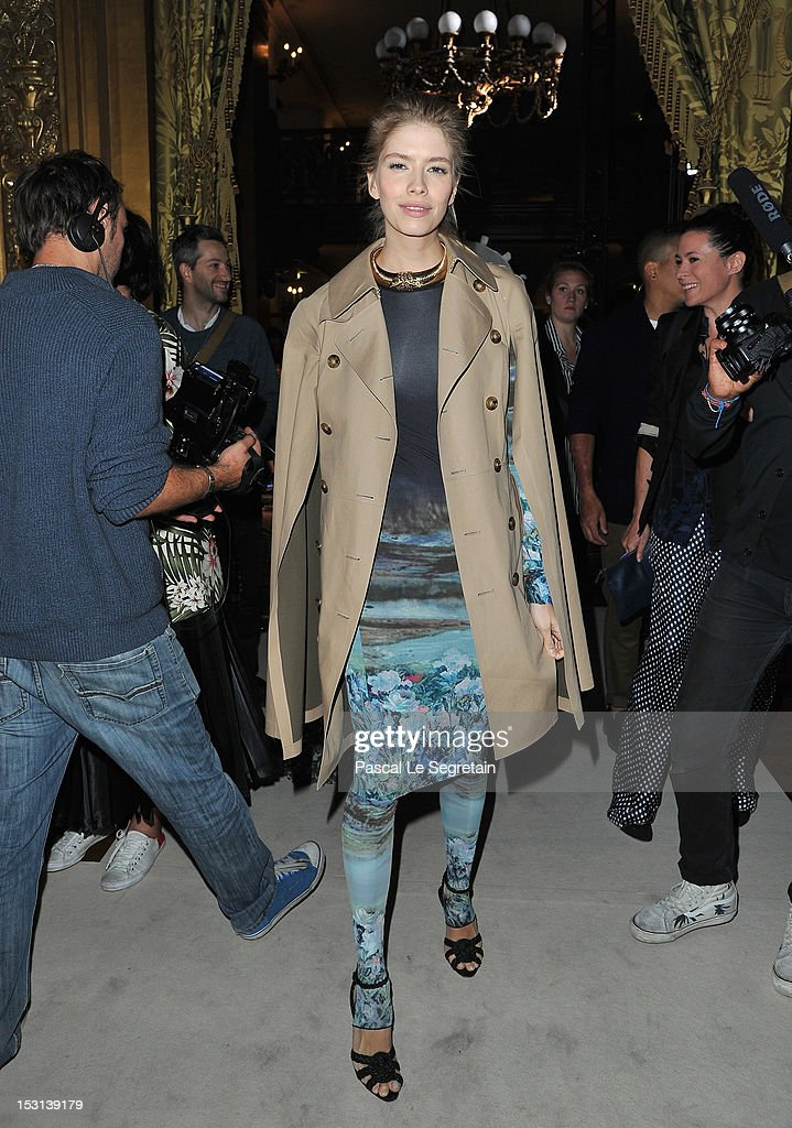 Elena Perminova attends the Stella McCartney Spring / Summer 2013 show as part of Paris Fashion Week on October 1, 2012 in Paris, France.