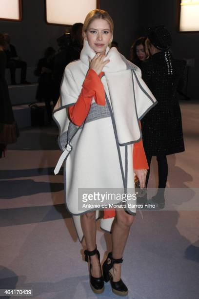 Elena Perminova attends the Ulyana Sergeenko show as part of Paris Fashion Week Haute Couture Spring/Summer 2014 on January 21 2014 in Paris France