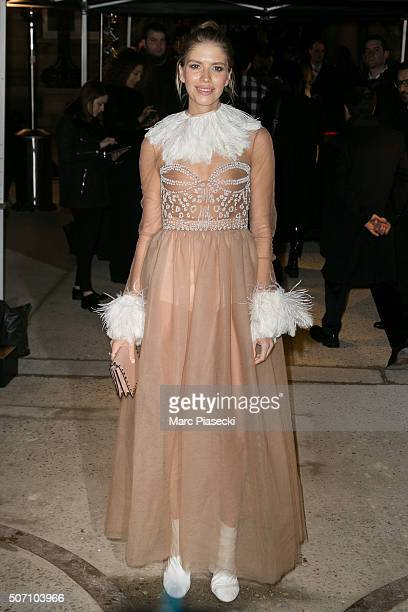 Elena Perminova attends the Valentino Haute Couture Spring Summer 2016 show as part of Paris Fashion Week on January 27 2016 in Paris France