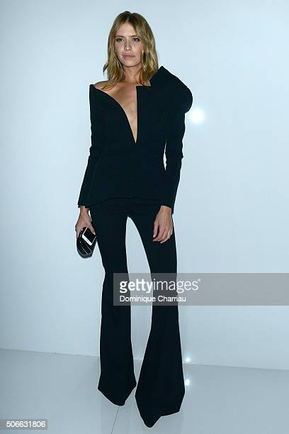 Elena Perminova attends the Versace Haute Couture Spring Summer 2016 show as part of Paris Fashion Week on January 24 2016 in Paris France