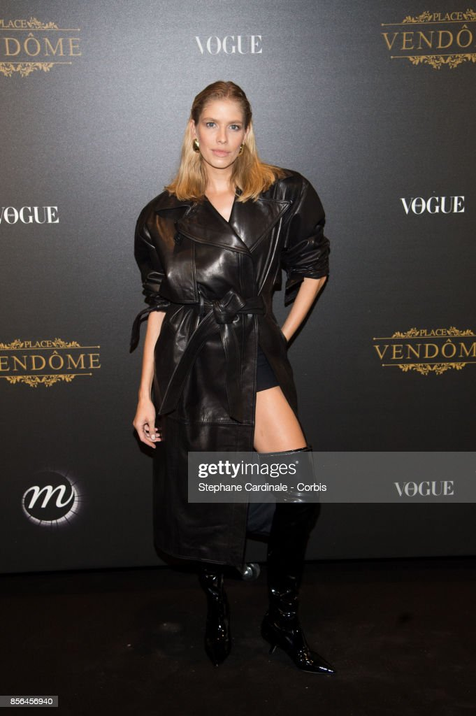 Elena Perminova attends Vogue Party as part of the Paris Fashion Week Womenswear Spring/Summer 2018 at on October 1, 2017 in Paris, France.