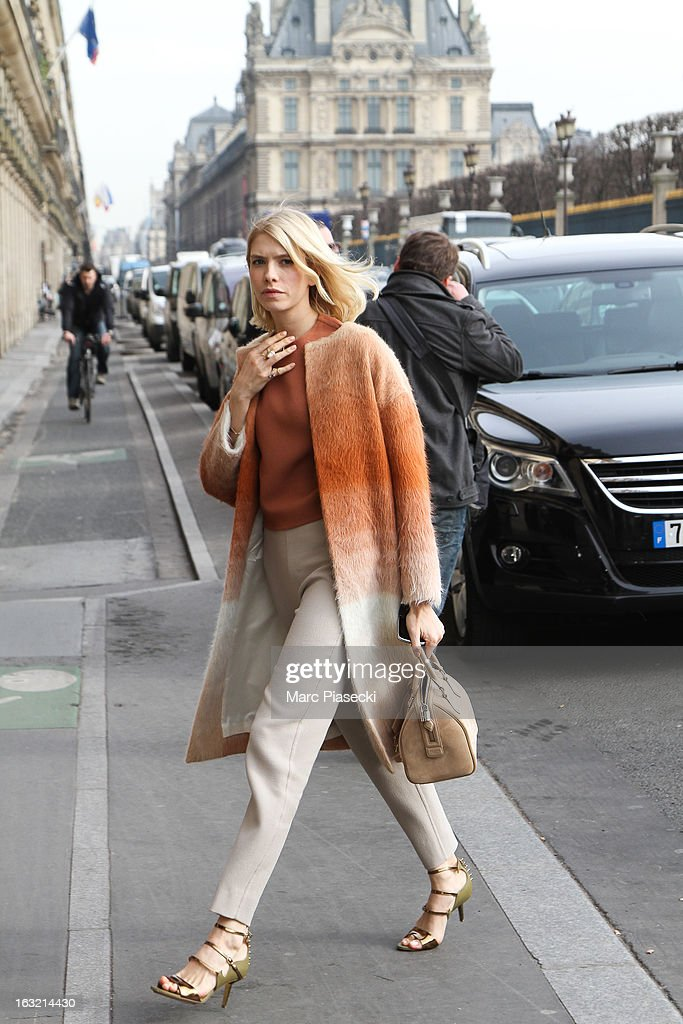 Elena Perminova is sighted arriving at the 'Meurice' hotel on March 6, 2013 in Paris, France.