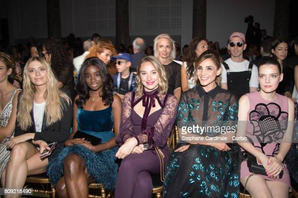 Elena Perminova Karidja Toure Deborah Francois Clotilde Courau and Roxane Mesquida attend the Elie Saab Haute Couture Fall/Winter 20172018 show as...