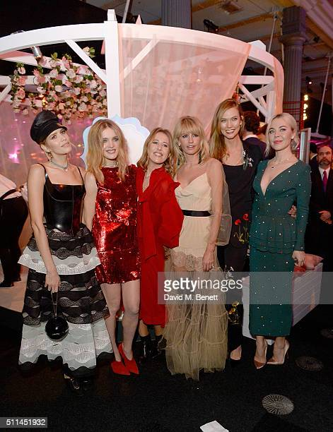 Elena Perminova Natalia Vodianova and Karlie Kloss with guests at The Naked Heart Foundation's Fabulous Fund Fair in London at Old Billingsgate...