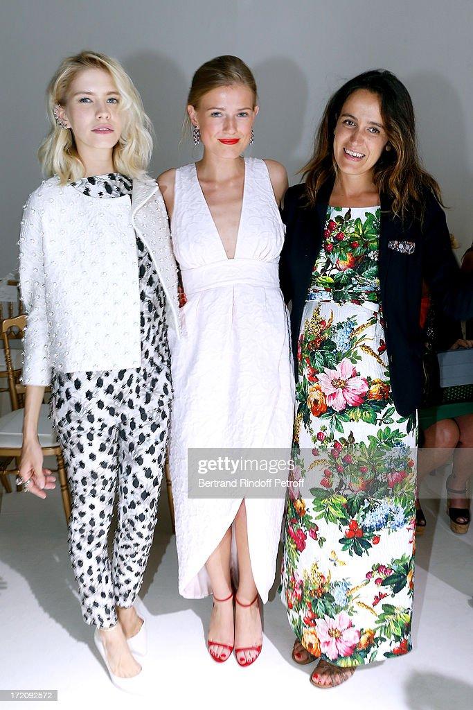 <a gi-track='captionPersonalityLinkClicked' href=/galleries/search?phrase=Elena+Perminova&family=editorial&specificpeople=6479553 ng-click='$event.stopPropagation()'>Elena Perminova</a>, Sofya Zaika and Coco Brandolini D'adda attend the Giambattista Valli show as part of Paris Fashion Week Haute-Couture Fall/Winter 2013-2014 at on July 1, 2013 in Paris, France.