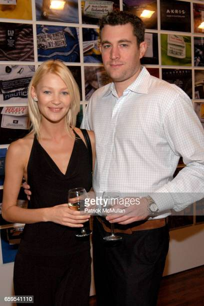 Elena Potapova and Matthew Hurni attend KRADA Photography by LUCA PIZZARONI Closing Reception at Fred Torres Collections on October 23 2009 in New...