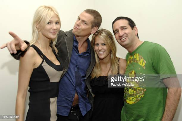 Elena Potapova Vince Offer Guest and Marc Turk attend Scott Lipps President of One Management's Birthday at Cooper Square Hotel on July 29 2009 in...