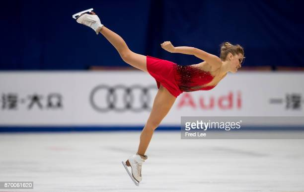 Elena Radionova of Russia compete in the Ladies Free Skating on day two of Audi Cup of China ISU Grand Prix of Figure Skating 2017 at Beijing Capital...