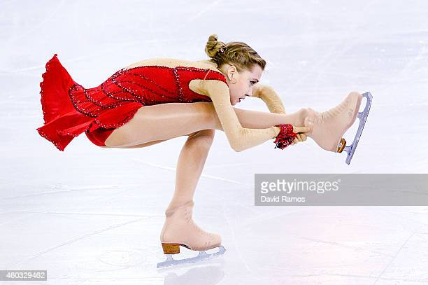Elena Radionova of Russia during the Short Program Final during day one of the ISU Grand Prix of Figure Skating Final 2014/2015 at Barcelona...