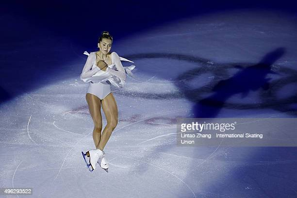 Elena Radionova of Russia perform during the Exhibition Program on day three of Audi Cup of China ISU Grand Prix of Figure Skating 2015 at Beijing...