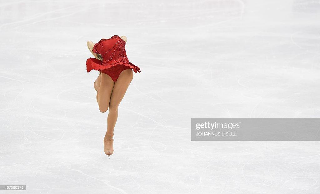 Elena Radionova of Russia performs during her ladies short program of the 2015 ISU World Figure Skating Championships at Shanghai Oriental Sports...