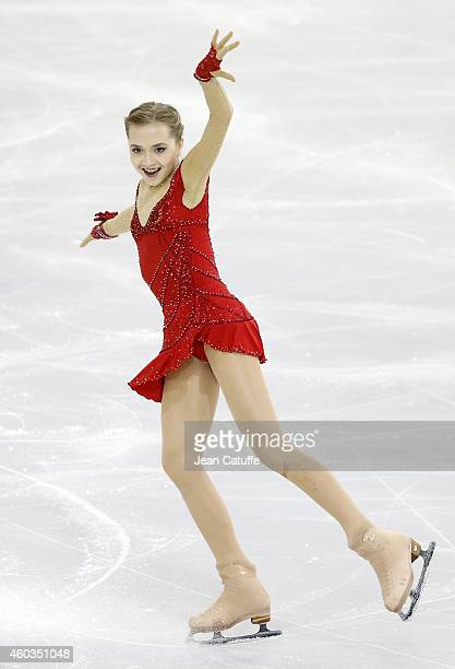 Elena Radionova of Russia performs during the Ladies Short Program Final on day one of the ISU Grand Prix of Figure Skating Final 2014/2015 at...