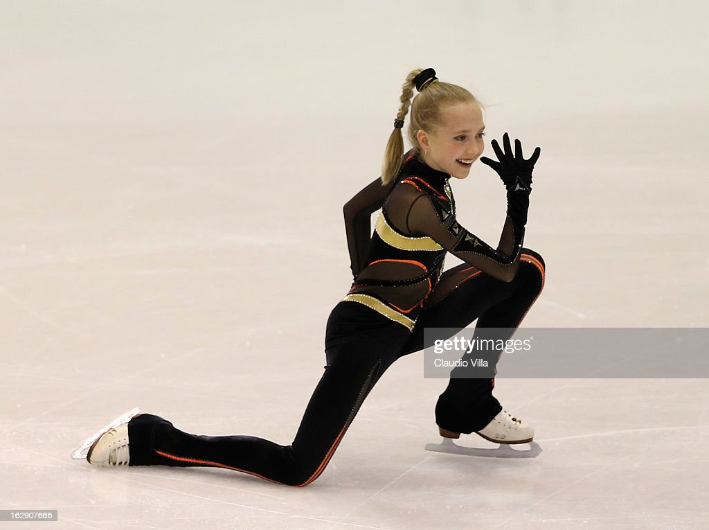 Elena Radionova of Russia skate in the Junior Ladies Short Program during day 5 of the ISU World Junior Figure Skating Championships at Agora Arena on March 01, 2013 in Milan, Italy.