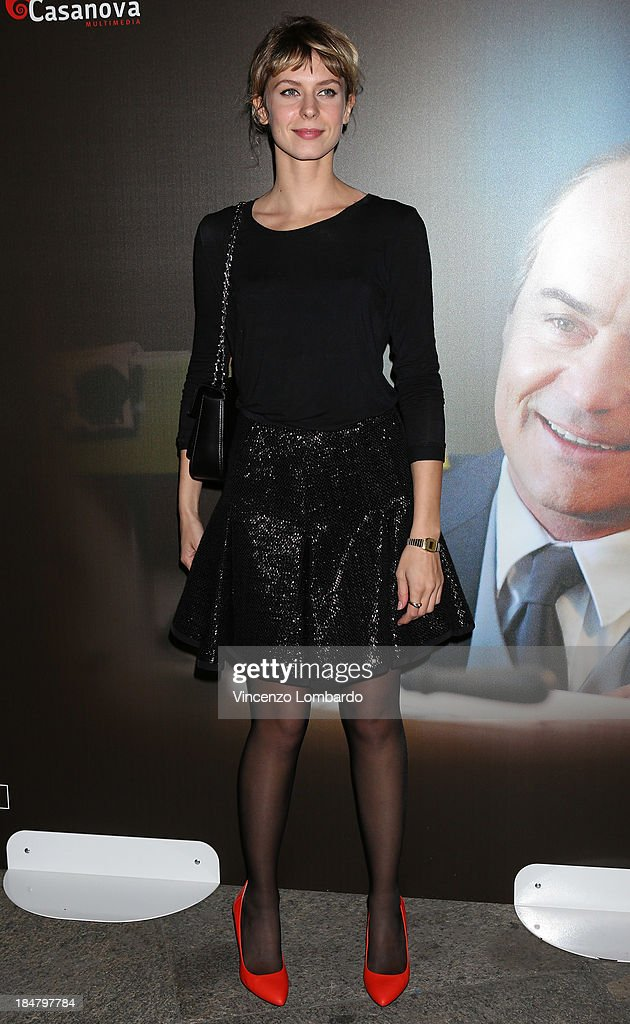Elena Radonicich attends the preview of film 'Adriano Olivetti. La forza di un sogno' on October 16, 2013 in Milan, Italy.