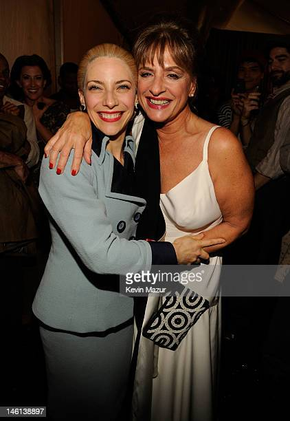 Elena Roger and Patti LuPone attend the 66th Annual Tony Awards at The Beacon Theatre on June 10 2012 in New York City
