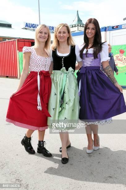 Elena Rudy wife of FC Bayern soccer player Sebastian Rudy Katharina Lukas Dirndl fashion designer of Schatzi Dirndl and Lina Meyer girlfriend of FC...