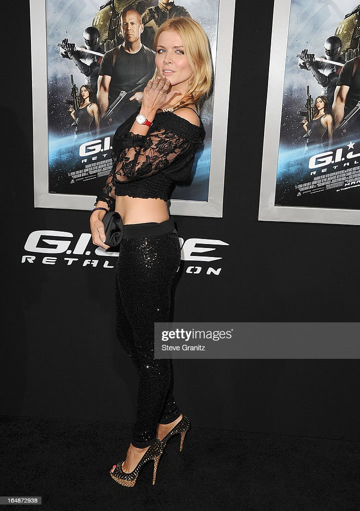 Elena Samodanova arrives at the 'G.I. Joe: Retaliation' - Los Angeles Premiere at TCL Chinese Theatre on March 28, 2013 in Hollywood, California.