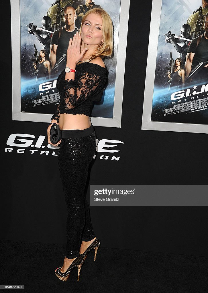 Elena Samodanova arrives at the 'G.I. Joe: Retaliation' - Los Angeles Premiere at TCL Chinese Theatre on March 28, 2013 in Hollywood, California.