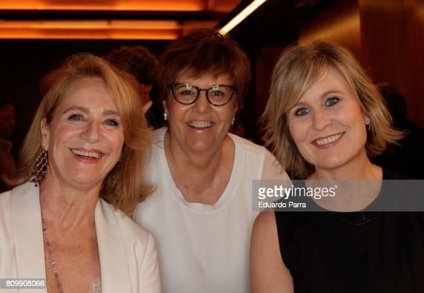 Elena Sanchez Maria Escario and Maria Rey attend the 'Periodismo Cientifico Concha Garcia Campoy' awards at Mapfre Foundation on July 6 2017 in...
