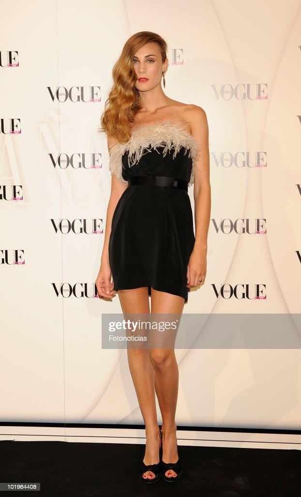Elena Santamatilde arrives to the 'VII Vogue Joyas Awards' (VII Vogue Jewellery Awards) at the Madrid Stock Exchange Building on June 10, 2010 in Madrid, Spain.