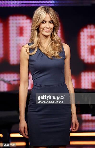 Elena Santarelli attends 'Chiambretti Night' Italian TV Show held at Mediaset Studios on January 23 2011 in Milan Italy