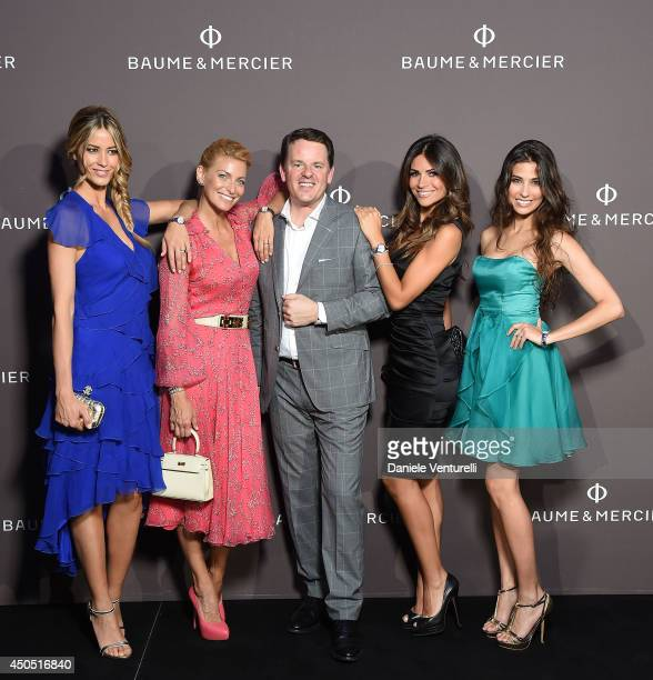 Elena Santarelli Federica Fontana Alain Zimmermann Sara Ventura and Ariadna Romero attend Baume Mercier Promesse New Women Collection Launch at...