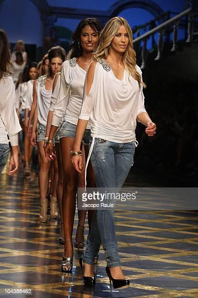Elena Santarelli walks down the runway during the Premoli Milan Fashion Week Womenswear Spring/Summer 2011 show on September 23 2010 in Milan Italy