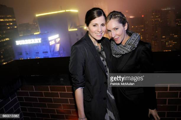 Elena Sapienza and Lauryn Flynn attend BURBERRY Lights Up NYC Skyline For First Time on 'BURBERRY DAY' at The New York Palace Hotel on May 28 2009 in...