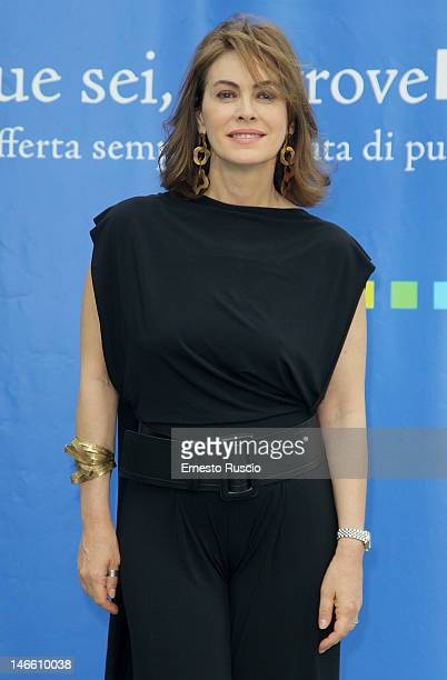 Elena Sofia Ricci attends the Palinsesti Rai photocall at Cavalieri Hilton Hotel on June 20 2012 in Rome Italy