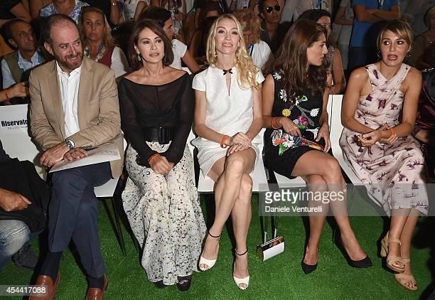 Elena Sofia Ricci Eleonora Abbagnato Caterina Murino and Paola Cortellesi attend the Kineo Award Photocall during the 71st Venice Film Festival at...