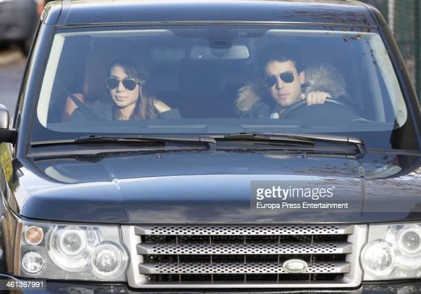 Elena Tablada and Daniel Arigita are seen on January 7 2014 in Madrid Spain