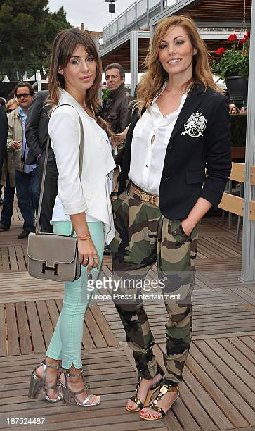 Elena Tablada and Raquel Rodriguez attend the ATP 500 World Tour Barcelona Open Banc Sabadell 2013 tennis tournament at the Real Club de Tenis on...