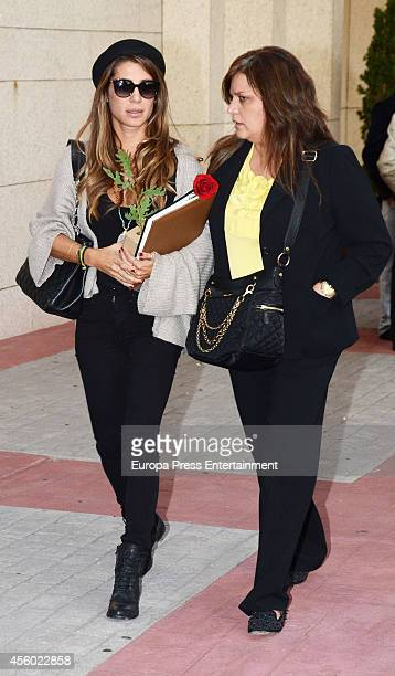 Elena Tablada attends the funeral chapel for Rafael Lozano on September 23 2014 in Madrid Spain