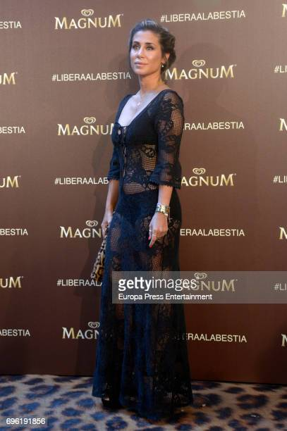 Elena Tablada attends the Magnum new campaign presentation party at the Palacete de Fortuny on June 14 2017 in Madrid Spain