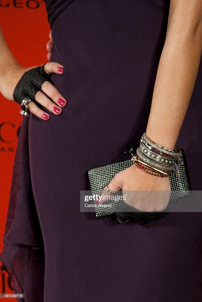 Elena Tablada (hands detail) attends the 'Mujer de Hoy' awards 2013 at the Hotel Palace on December 17, 2013 in Madrid, Spain.