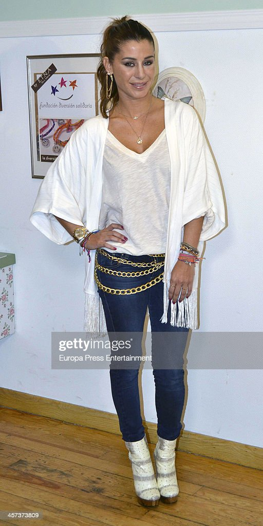Elena Tablada attends the presetantion of ETNA Charity Bracelet on December 16, 2013 in Madrid, Spain.